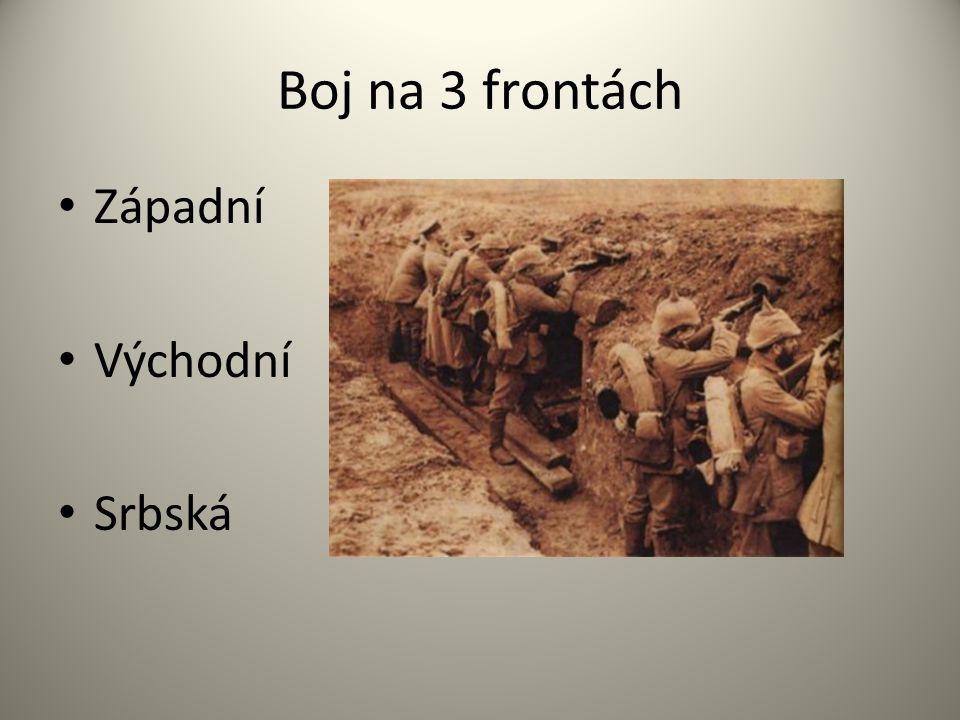 Boj na 3 frontách Západní Východní Srbská