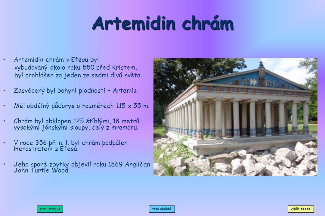 Diova socha Byla považována za jeden ze sedmi divů starověkého světa. Řecký sochař Feidais ji dokončil v Olympii roku 433 před Kristem. Trůn byl zhoto