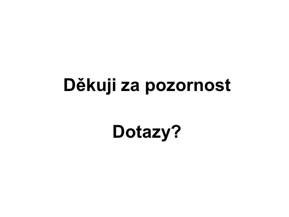 Děkuji za pozornost Dotazy?