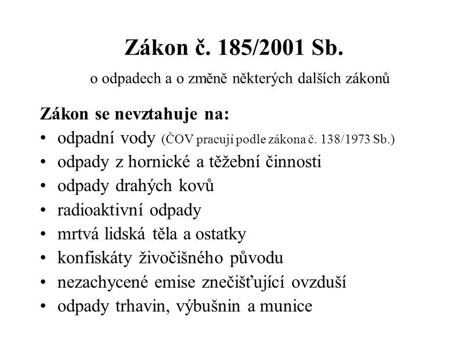 Zákon č.185/2001 Sb.