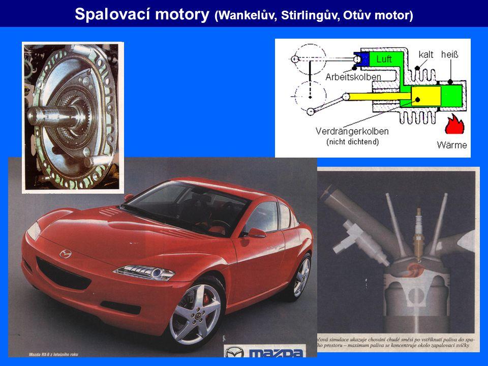 Spalovací motory (Wankelův, Stirlingův, Otův motor)