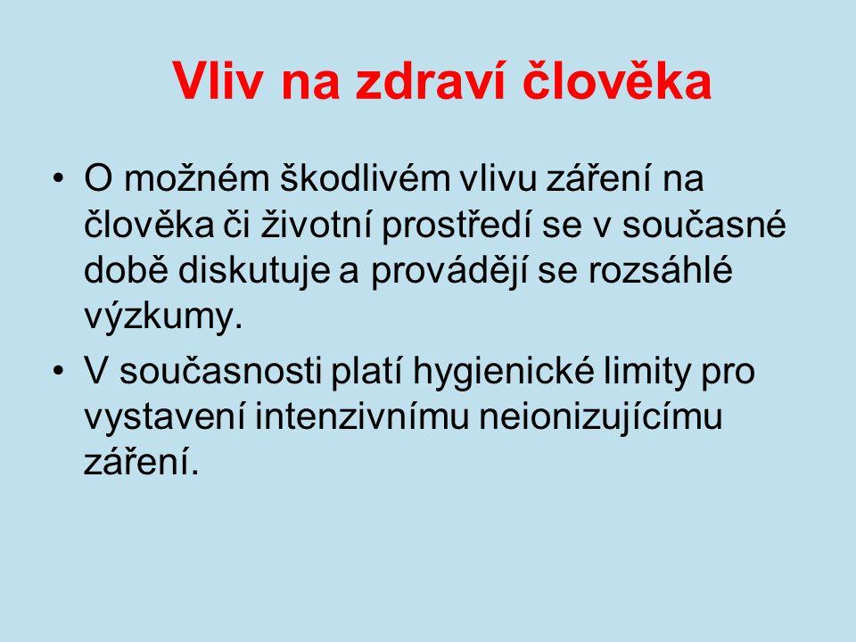 Hygienické limity V České republice jsou zdravotní limity pro elektromagnetické pole zavedeny nařízením vlády.