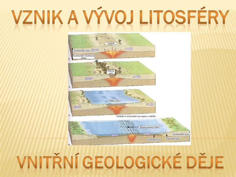  Litosféra je pevný (kamenný) obal Země tvořený zemskou kůrou a nejsvrchnějšími vrstvami zemského pláště.
