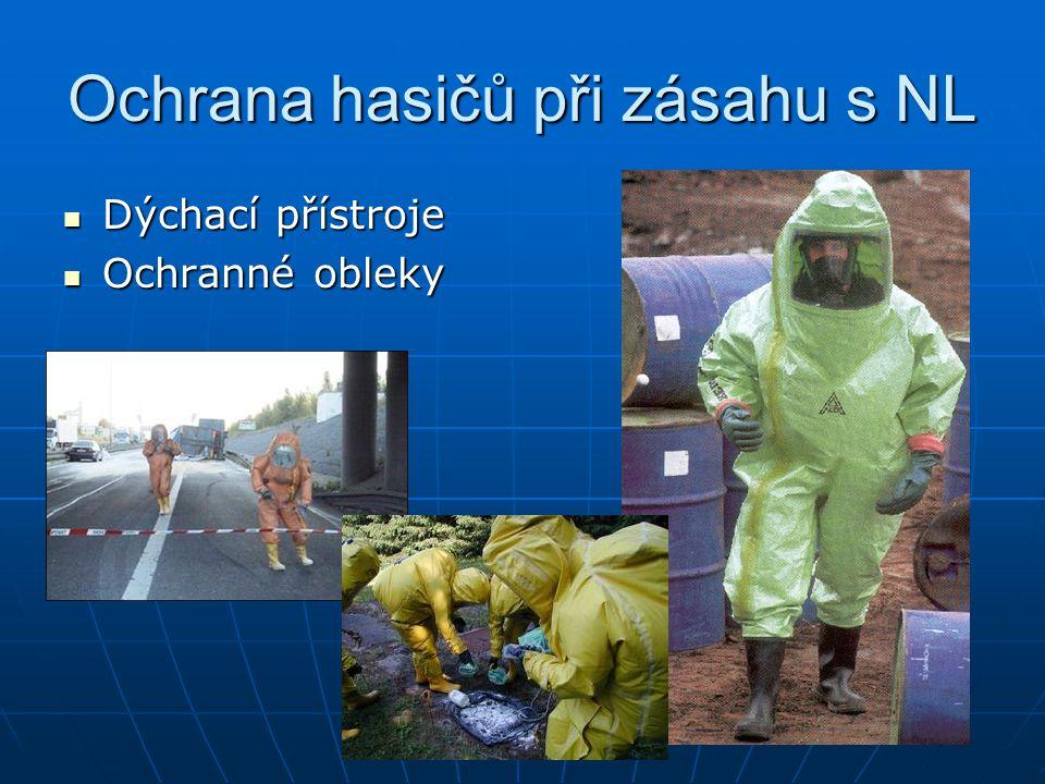 Ochrana hasičů při zásahu s NL Dýchací přístroje Dýchací přístroje Ochranné obleky Ochranné obleky