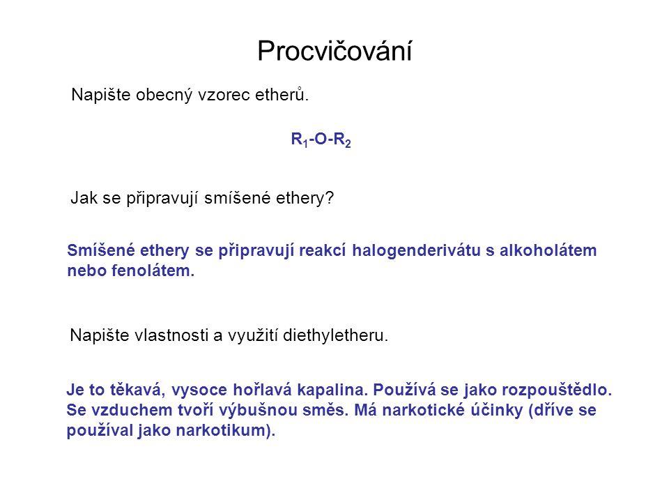 Napište rovnicí reakci oxiranu s vodou za přítomnosti kyseliny sírové.