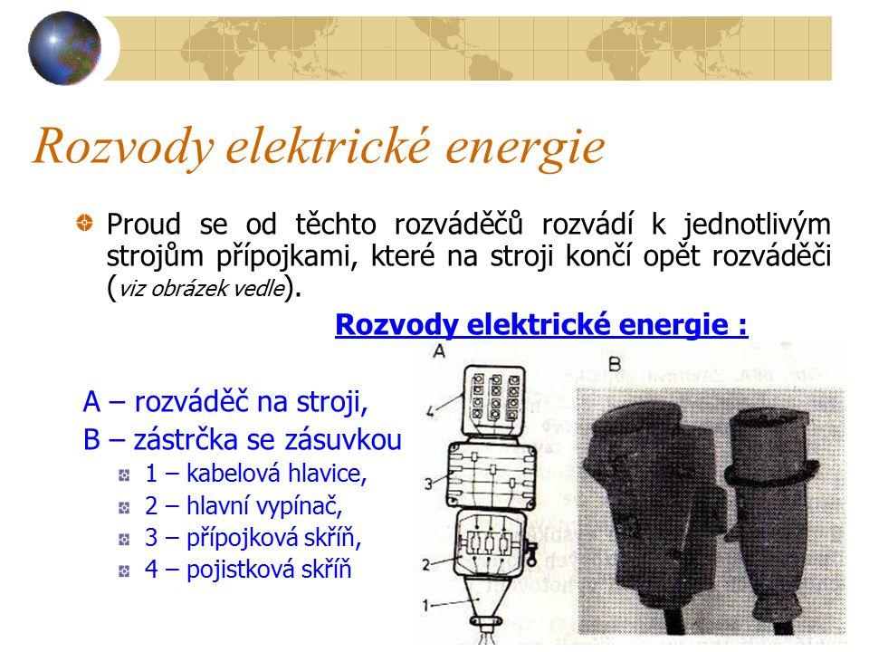 Rozvody elektrické energie R o z v á d ě č (tzv.