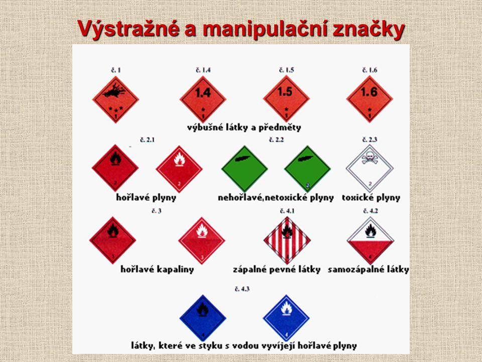Výstražné a manipulační značky