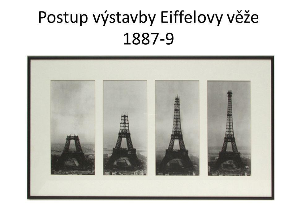 Postup výstavby Eiffelovy věže 1887-9