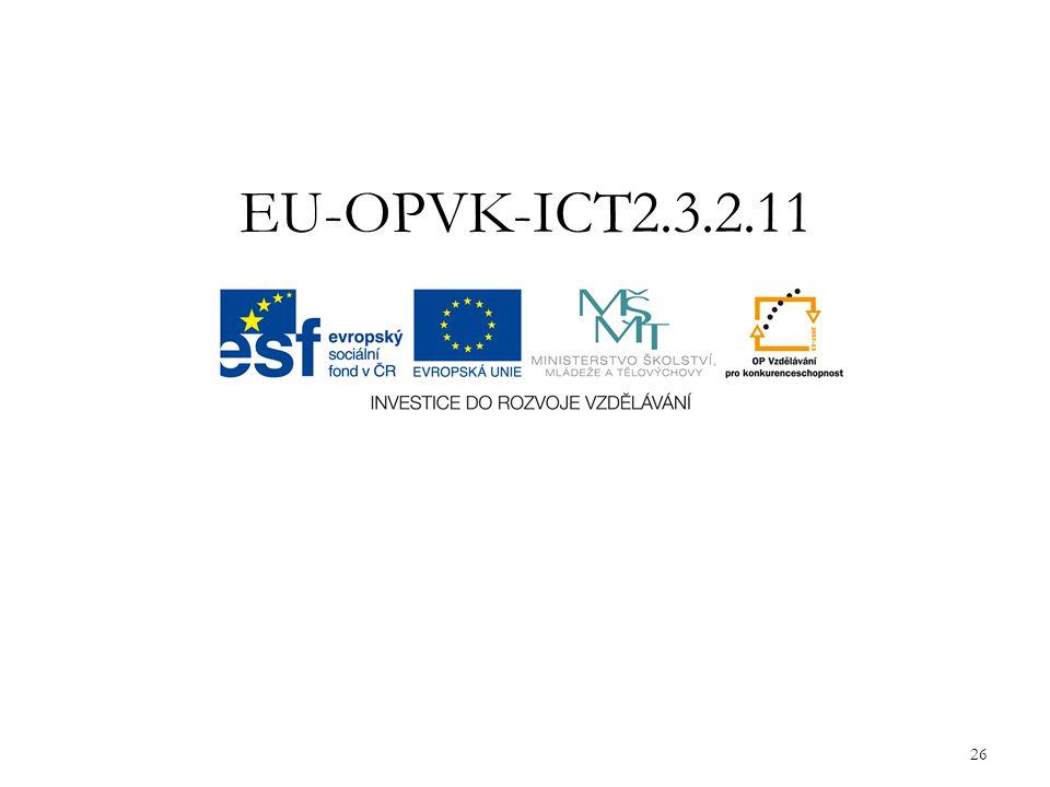 EU-OPVK-ICT2.3.2.11 26