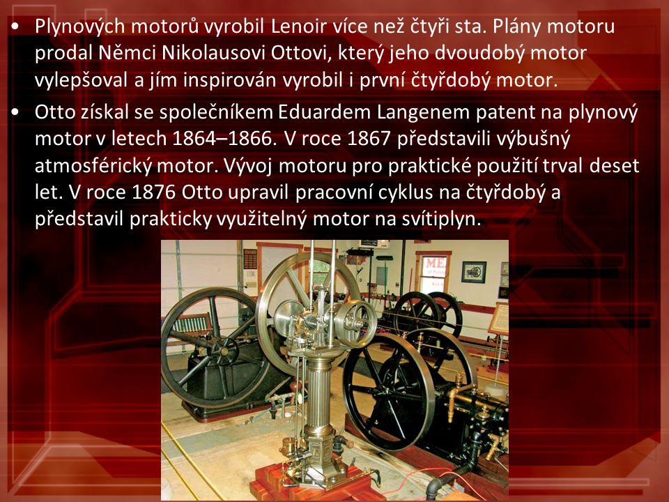 Plynových motorů vyrobil Lenoir více než čtyři sta. Plány motoru prodal Němci Nikolausovi Ottovi, který jeho dvoudobý motor vylepšoval a jím inspirová