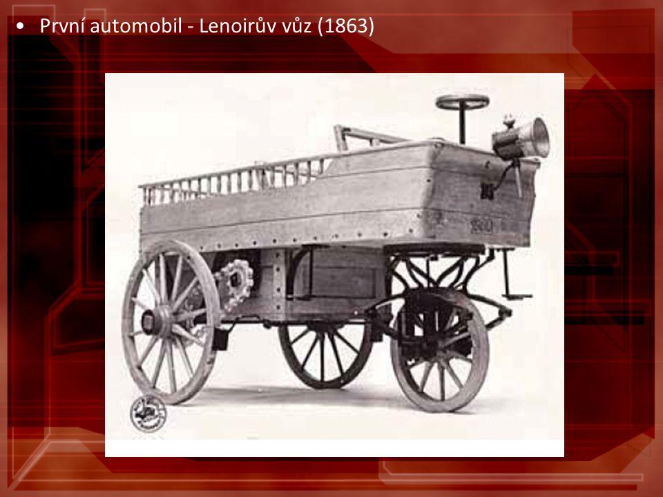 První automobil - Lenoirův vůz (1863)
