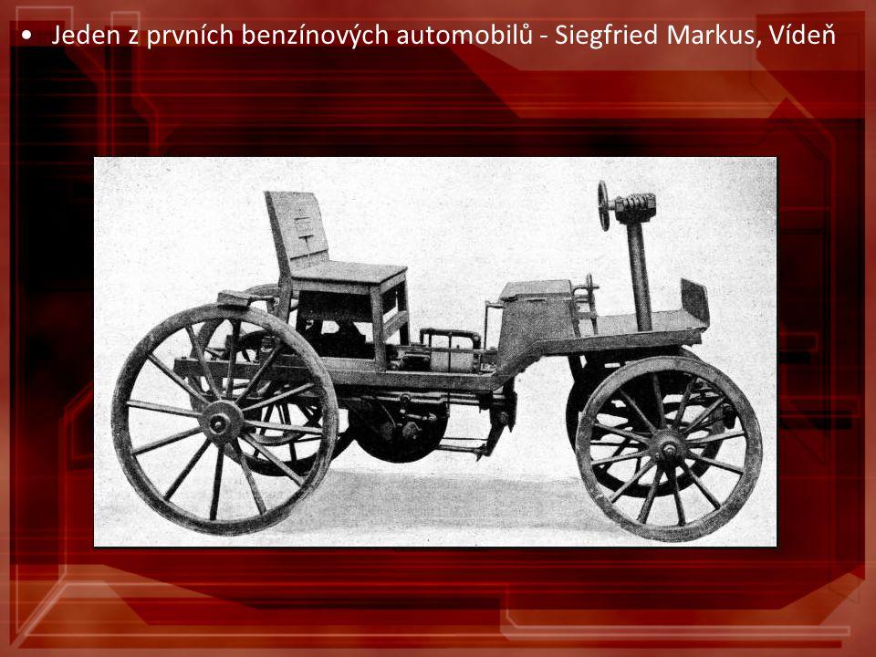 Jeden z prvních benzínových automobilů - Siegfried Markus, Vídeň