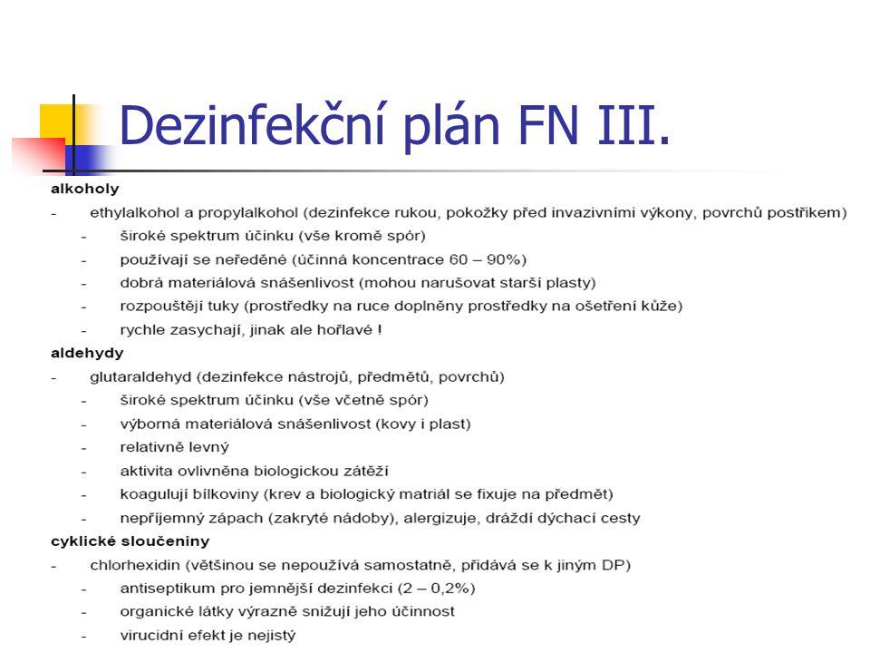 Dezinfekční plán FN IV.
