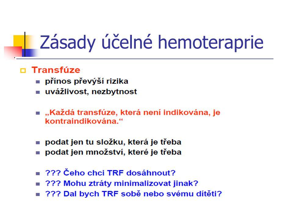 Zásady účelné hemoteraprie