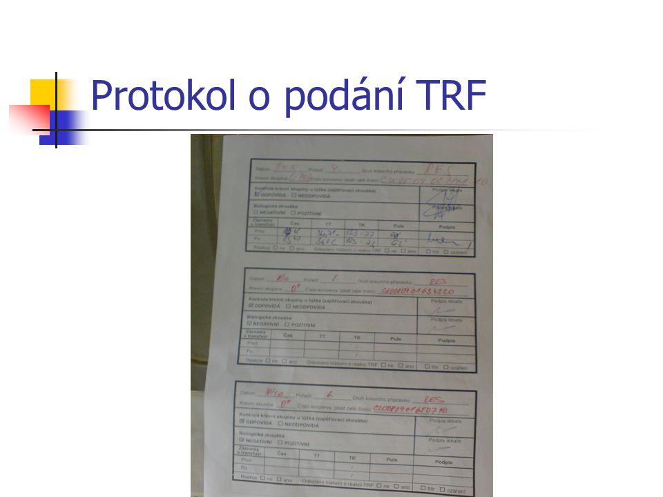Protokol o podání TRF