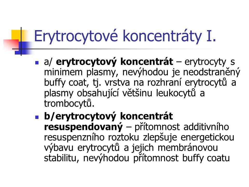 Erytrocytové koncemtráty II.