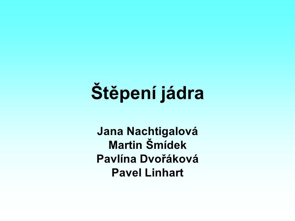Štěpení jádra Jana Nachtigalová Martin Šmídek Pavlína Dvořáková Pavel Linhart