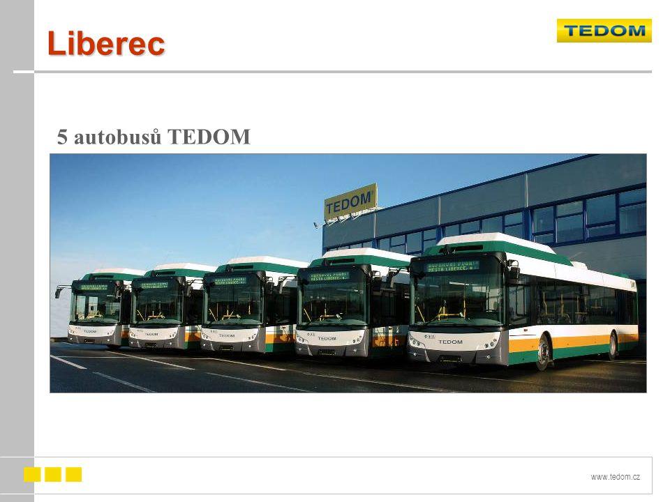 www.tedom.cz Liberec 5 autobusů TEDOM C12 G