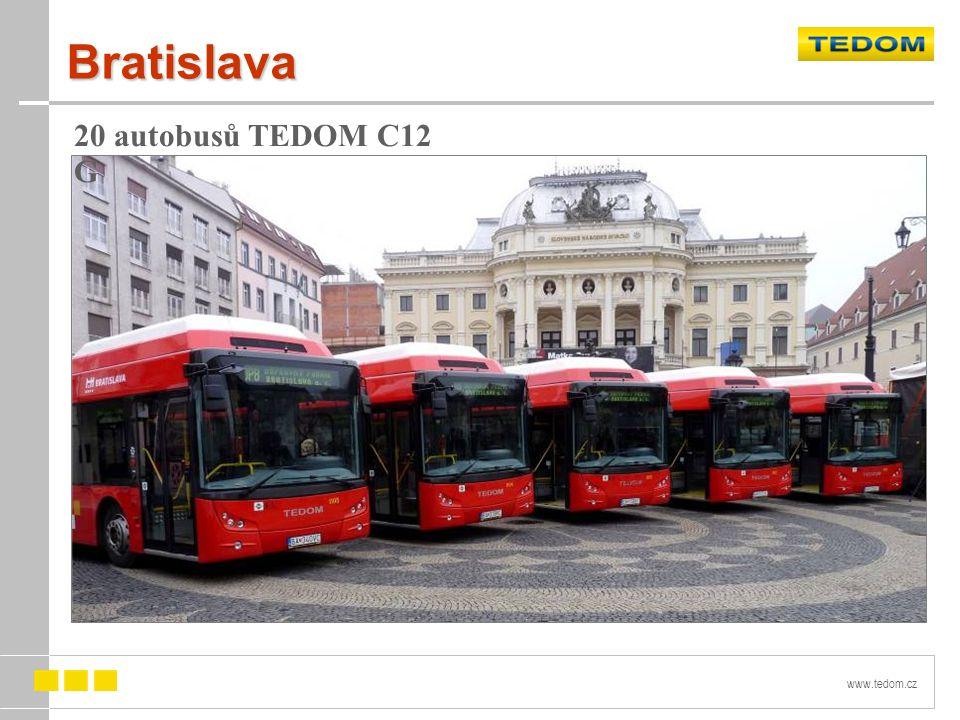 www.tedom.cz Bratislava 20 autobusů TEDOM C12 G