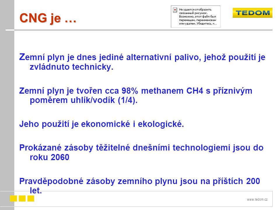 www.tedom.cz CNG je … Z emní plyn je dnes jediné alternativní palivo, jehož použití je zvládnuto technicky.