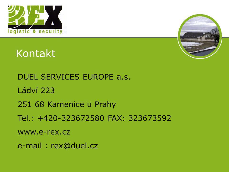 Kontakt DUEL SERVICES EUROPE a.s.