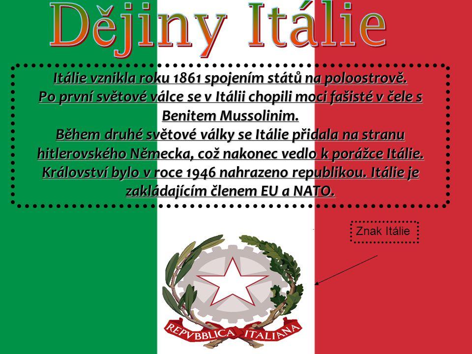 HLAVNÍ MĚSTO ITÁLIE přezdívaný Věčné město vznikl spojením několika osad na sedmi pahorcích roku 753 př.