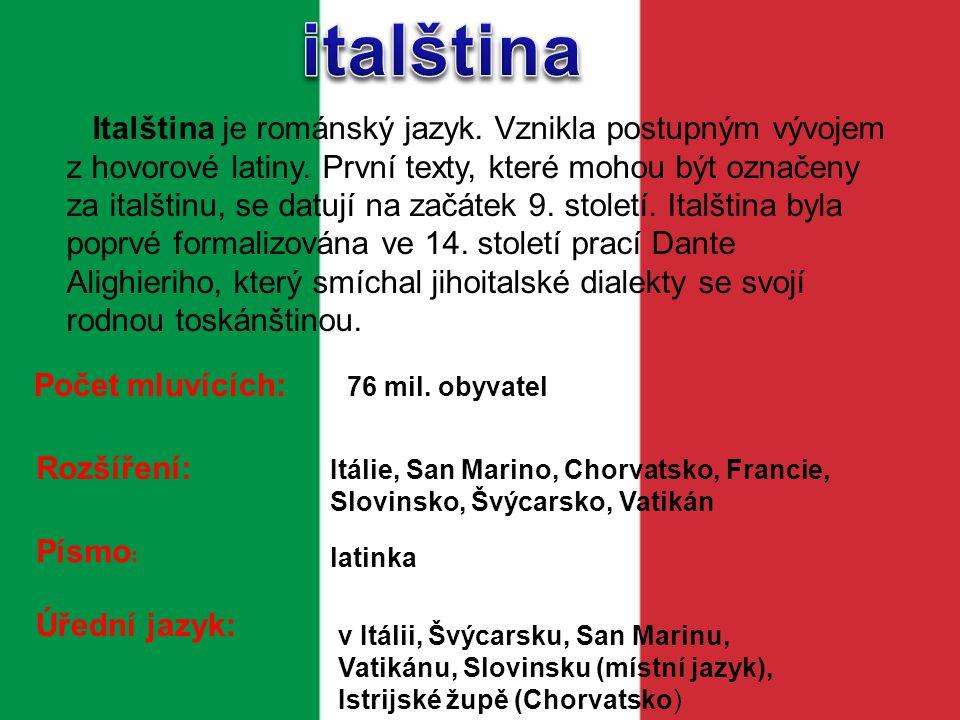 Počet mluv ících: 7,8 milionu Neapolština je rozšířena v italské Kampánii, nejvíce pak v její metropoli - Neapoli.