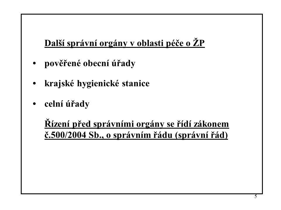16 Česká inspekce životního prostředí (ČIŽP): Působnost stanovena zákonem č.