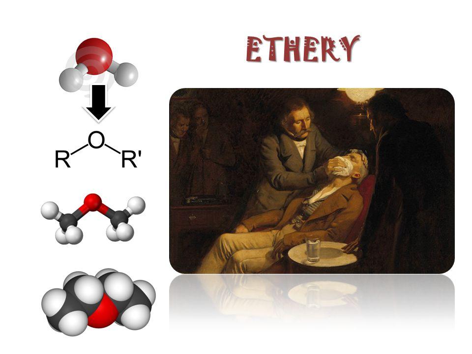 opakování názvosloví ethylmethylether methoxyethan butylethylether ethoxybutan oxiran ethylenoxid cyklický ether