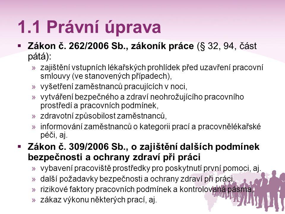 1.2 Právní úprava  Zákon č.
