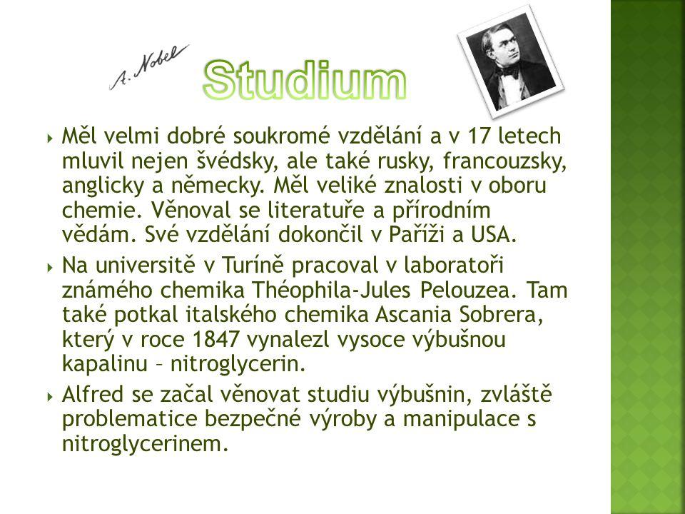  Měl velmi dobré soukromé vzdělání a v 17 letech mluvil nejen švédsky, ale také rusky, francouzsky, anglicky a německy. Měl veliké znalosti v oboru c