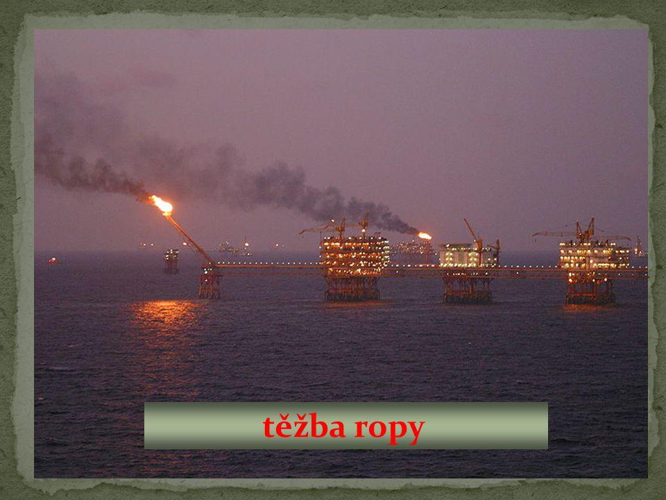 schéma těžby