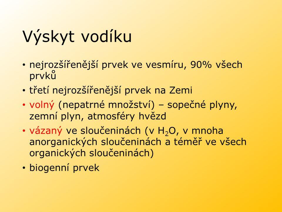 Izotopy vodíku prothium (lehký vodík), 99, 985 % 1p +, 1e -, 0n 0 deuterium, 0, 015 % 1p +, 1e -, 1n 0 trithium, stopové množství 1p +, 1e -, 2n 0