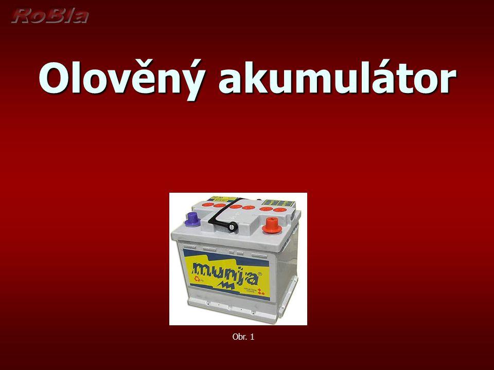 Olověný akumulátor Olověný akumulátor je nejpoužívanější záložní zdroj v současnosti.