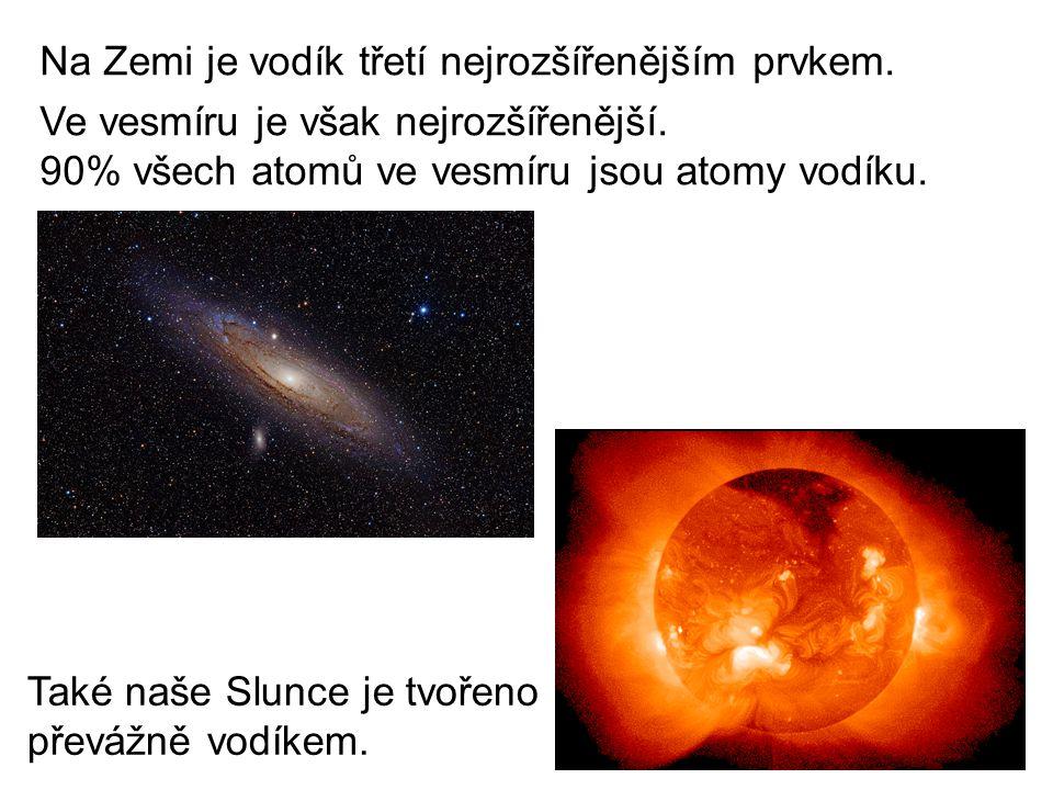 Na Zemi je vodík třetí nejrozšířenějším prvkem. Ve vesmíru je však nejrozšířenější.
