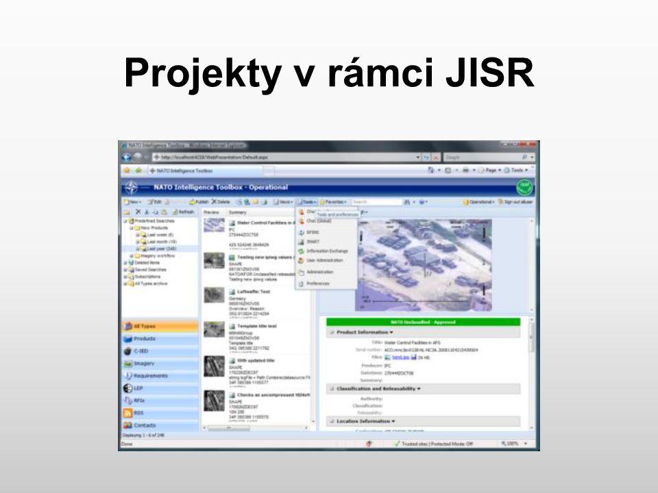 Projekty v rámci JISR