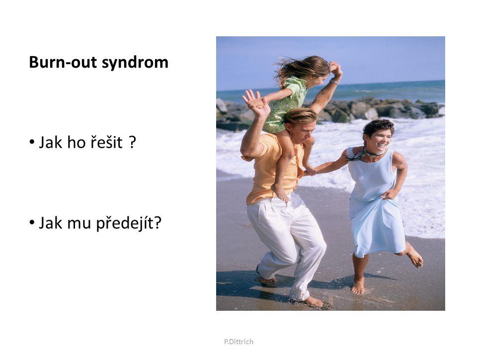 Burn-out syndrom Jak ho řešit ? Jak mu předejít? P.Dittrich