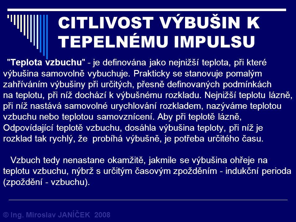 CITLIVOST VÝBUŠIN K TEPELNÉMU IMPULSU © Ing. Miroslav JANÍČEK 2008