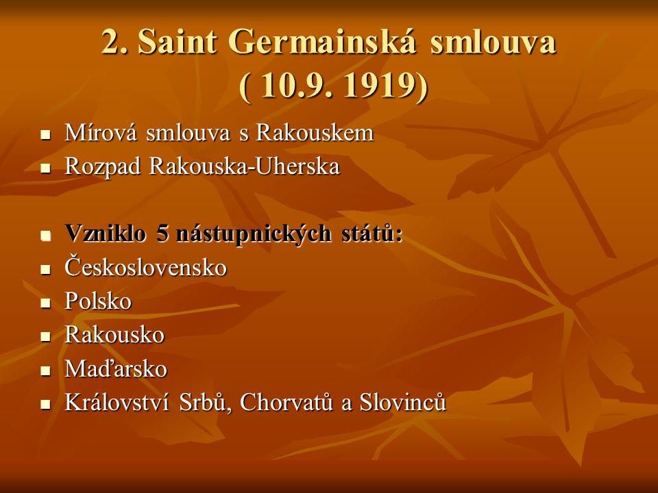 2.Saint Germainská smlouva ( 10.9.