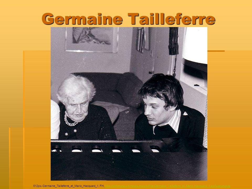 Germaine Tailleferre 612px-Germaine_Tailleferre_et_Mario_Hacquard_1, FH, http://commons.wikimedia.org/wiki/File:Germaine_Tailleferre_et_Mario_Hacquard