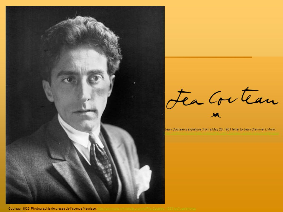 Cocteau_1923, Photographie de presse de l'agence Meurisse, http://commons.wikimedia.org/wiki/File:Cocteau_1923.jpg?uselang=cshttp://commons.wikimedia.