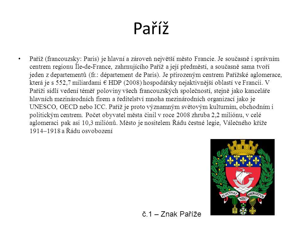 Paříž Paříž (francouzsky: Paris) je hlavní a zároveň největší město Francie. Je současně i správním centrem regionu Île-de-France, zahrnujícího Paříž