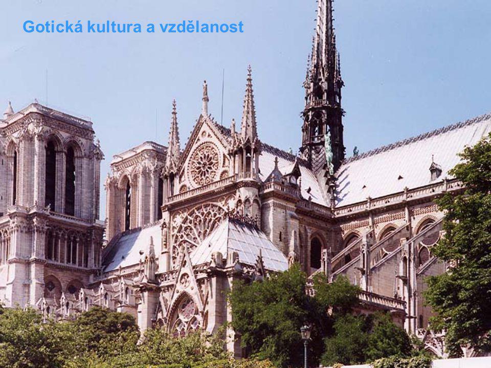 Gotická kultura a vzdělanost