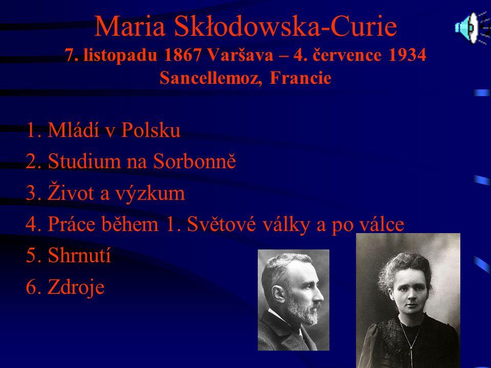Otec -Władysław Skłodowski.