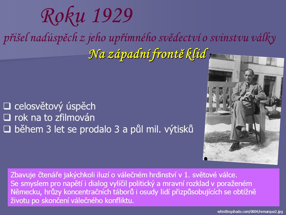 upload.wikimedia.org/wikipedia/commons/c/cf/B... Po návratu z války  problémy začlenit se do normální společnosti  střídal zaměstnání  učitel  mal