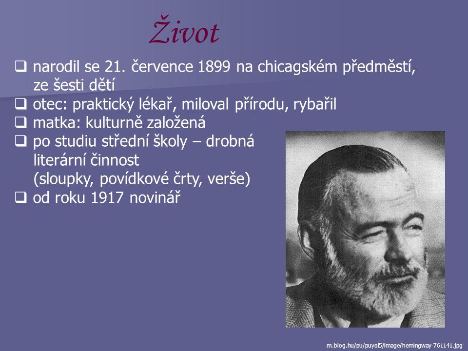 Ernest Hemingway (1899 – 1961) www.eggheadcafe.com/fileupload/-1724526549_he...  americký prozaik a publicista  nositel Nobelovy ceny za literaturu