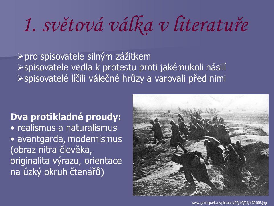 www.ucebnice-dejepisu.ic.cz/img/m/big/800px-G... 1. světová válka (1914 – 1918)  silně poznamenala jednání těch, kteří se jí zúčastnili  bojovalo 28