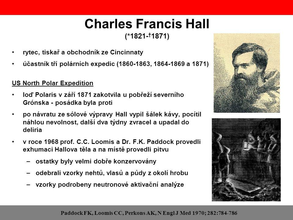 Charles Francis Hall (*1821- † 1871) rytec, tiskař a obchodník ze Cincinnaty účastník tří polárních expedic (1860-1863, 1864-1869 a 1871) US North Pol