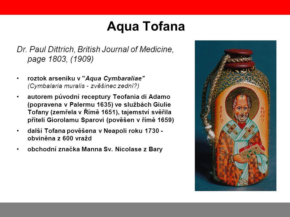 Aqua Tofana roztok arseniku v