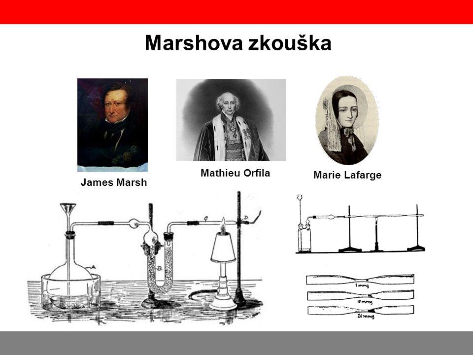 Marshova zkouška James Marsh Mathieu Orfila Marie Lafarge